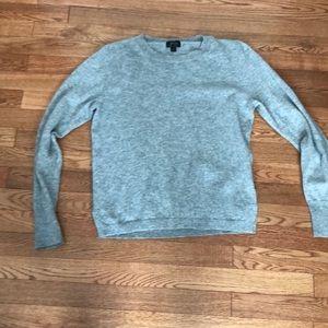 Jcrew gray cashmere crew neck sweater